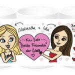 Personalisierte Tasse für die Beste Freundin